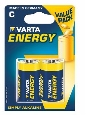 Батарейки Varta Energy C LR14 2 шт батарейки varta longlife c lr14 2 шт