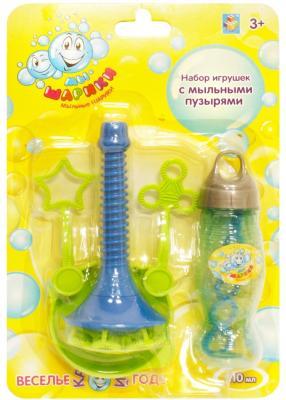 Мыльные пузыри 1Toy Мы-шарики ёмкость для раствора, рожок 110 мл Т58728