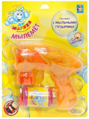 Мыльные пузыри 1Toy Мы-шарики Пистолет механический прозрачный со светом 65 мл разноцветный Т58738 цена 2017