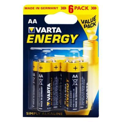 Батарейки Varta Energy AA 6 шт батарейки varta energy aa 4шт в упаковке