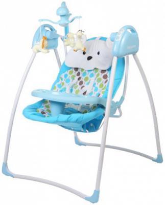 Электрокачели с адаптером Baby Care Butterfly (blue)