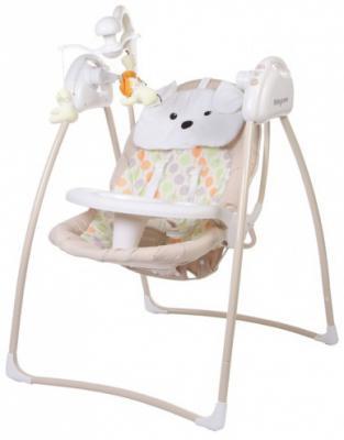 Электрокачели с адаптером Baby Care Butterfly (beige)