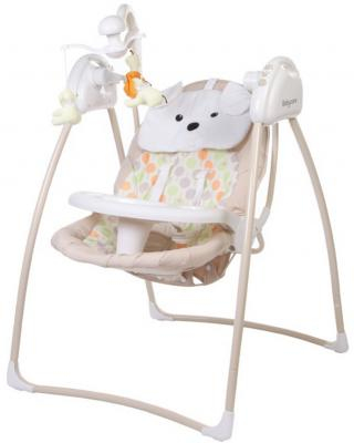 Электрокачели 2-в-1 с адаптером Baby Care Butterfly (beige)