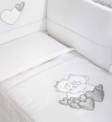 Постельный сет Baby Expert Tenerezze (белый/серебро) постельный сет baby expert tenerezze белый серебро