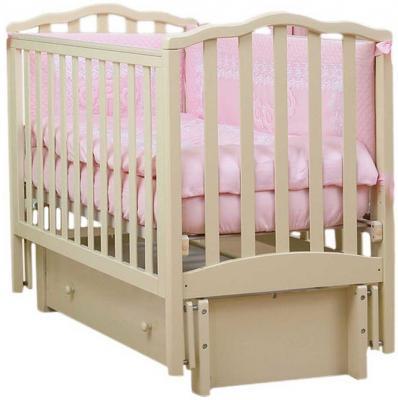 Кроватка с маятником Лель Жасмин АБ19.3 (ваниль)