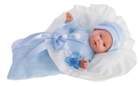 Фото Кукла Munecas Antonio Juan Ланита в голубом 27 см плачущая 1110B