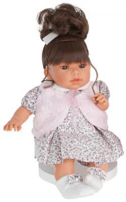 Кукла Munecas Antonio Juan Лучия в белом 37 см со звуком 1557W