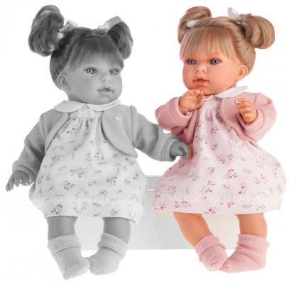 Кукла Munecas Antonio Juan Лорена в розовом 37 см со звуком 1558P