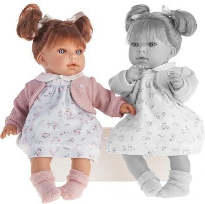 Кукла Munecas Antonio Juan Лорена в белом 38 см со звуком 1558W