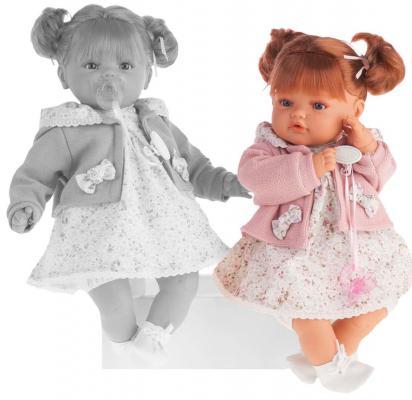Кукла Munecas Antonio Juan Каталина в розовом 42 см плачущая 1668P кукла интерактивная munecas antonio juan каталина блондинка
