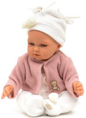 Кукла-младенец Munecas Antonio Juan Ману в розовом 29 см смеющаяся говорящая 1775P