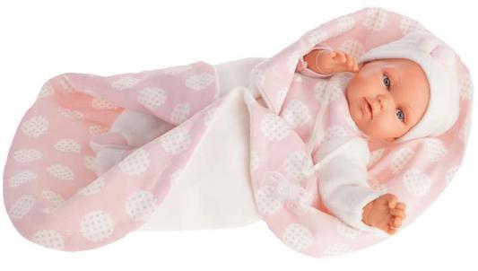 Кукла Munecas Antonio Juan Марселина в розовом 29 см со звуком 1778P