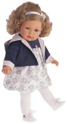 Кукла Munecas Antonio Juan Аделина в синем 55 см говорящая смеющаяся 1888B