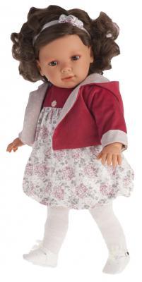 Кукла Munecas Antonio Juan Аделина в красном 55 см говорящая смеющаяся 1888R