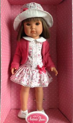 Кукла Munecas Antonio Juan Белла в шляпке 45 см 2803P