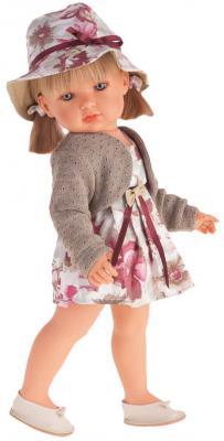 Кукла Munecas Antonio Juan Белла в шляпке, блондинка 45 см 2808P кукла munecas antonio juan белла первое причастие брюнетка в кремовом 2800br