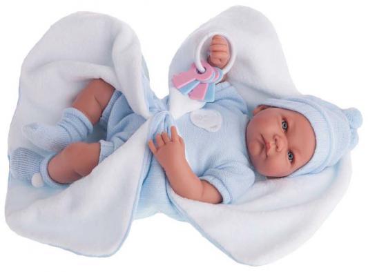 Кукла Munecas Antonio Juan Фернан в голубом 40 см говорящая смеющаяся 3362B