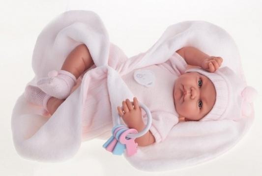 Кукла Munecas Antonio Juan Фернанда в розовом 40 см плачущая мягкая 3362Р