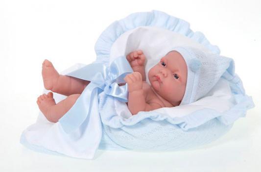 Кукла-младенец Munecas Antonio Juan Леон в голубом 26 см 4055B