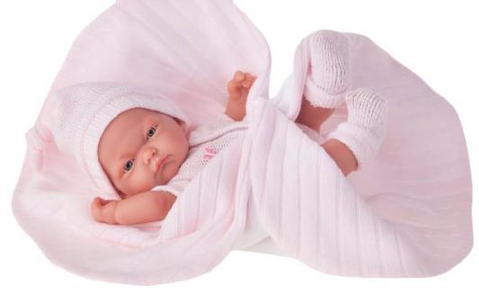 Кукла-младенец Munecas Antonio Juan Карла в розовом одеяле 26 см 4067P