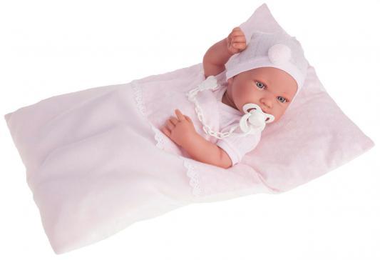 Кукла-младенец Munecas Antonio Juan Пипа в розовом 42 см 5056P