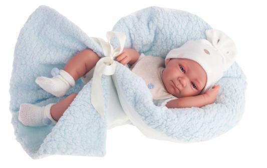 Кукла-младенец Munecas Antonio Juan Пабло в голубом 42 см 5061B