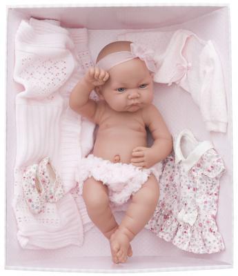 Купить Кукла-младенец Munecas Antonio Juan Эльза в розовом 42 см 5073P, винил, Куклы Munecas Antonio Juan