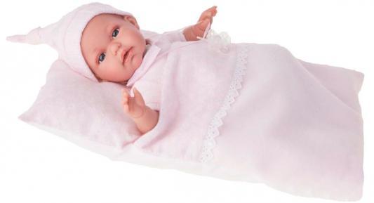 Кукла Munecas Antonio Juan Эрнеста в розовом 34 см мягкая со звуком 7028P