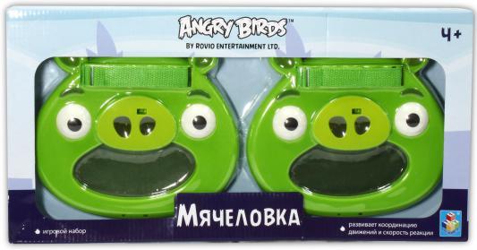 """Спортивная игра 1Toy Angry Birds """"Мячеловка"""" - Свинья Т56600 1toy mookie игра спортивная twin jumbo catch 2 стаканчика 2 мячика 135999"""
