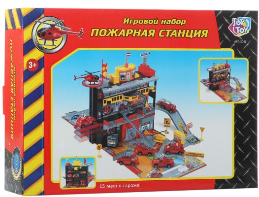 Play Smart игровой набор ;Пожарная станция, 26х36х9см Р41446 автомат play smart снайпер р41399