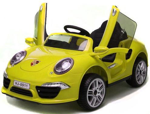 Электромобиль Porsche 911 Жёлтый Т58722 купить юбку бампера порше 911