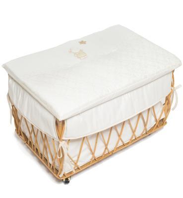 Плетеный ящик с крышкой Italbaby Angioletti 650,0014 ивовые прутья коричневый