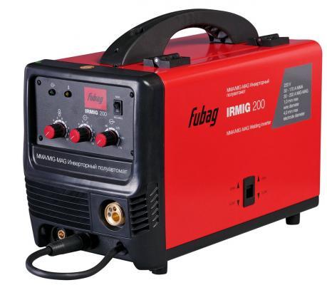 Аппарат сварочный Fubag IRMIG 200 с горелкой FB 250 инверторный сварочный аппарат fubag inmig 200 plus 38093 маска сварщика fubag optima 9 13