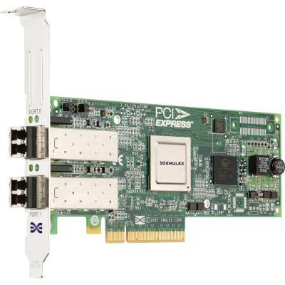 Адаптер Dell Emulex LPe12002 Dual Channel 8GB PCIe 406-10691 адаптер dell qlogic 2562 dual port 8gb fibre channel hba pci e x8 full profile kit 406 bbek