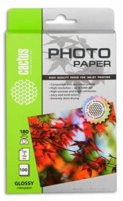 Бумага Cactus CS-GA6180100E 10x15 180г/кв.м глянцевая 100л