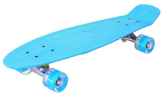 """Скейтборд Pennyboard Classic 26"""" 67х18 YWHJ-28 пластик со светящимися колесами цвет голубой 146315"""