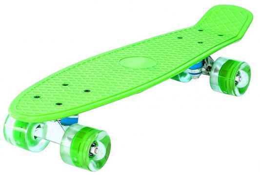 "Скейтборд Pennyboard Classic 26"" 67х18 YWHJ-28 пластик со светящимися колесами цвет зеленый 146315"