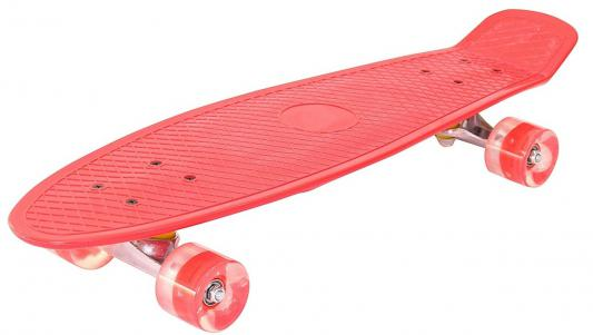 "Скейтборд Pennyboard Classic 26"" 67х18 YWHJ-28 пластик со светящимися колесами цвет красный 146315"