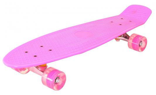 "Скейтборд Pennyboard Classic 26"" 67х18 YWHJ-28 пластик со светящимися колесами цвет розовый 146315"