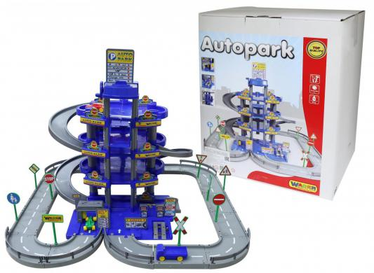 Купить Паркинг Wader 4-уровневый с дорогой и автомобилями синий 44716, Гаражи, парковки, треки
