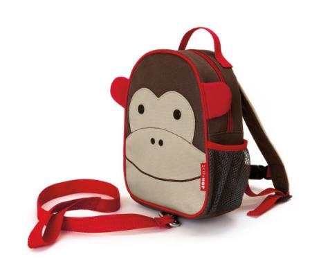 Купить Рюкзак Skip Hop Zoo Let Harness Обезьянка (с поводком) разноцветный, н/д, Рюкзаки и сумки для дошкольников