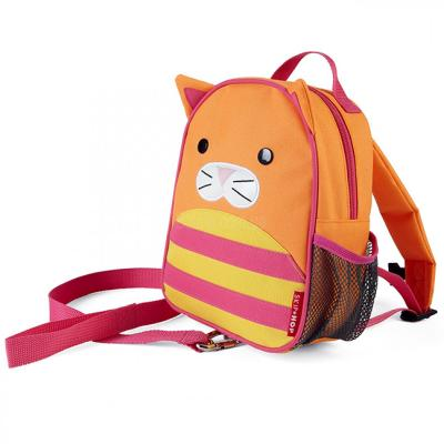 """Дошкольный рюкзак Skip Hop """"Кошка"""" с поводком 8 л оранжевый SH 212257"""