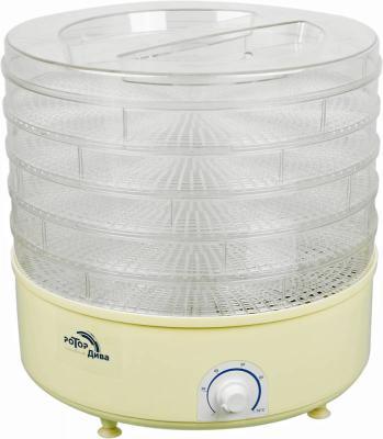 Сушилка для овощей и фруктов Ротор Дива СШ-007-06 белый 5 поддонов