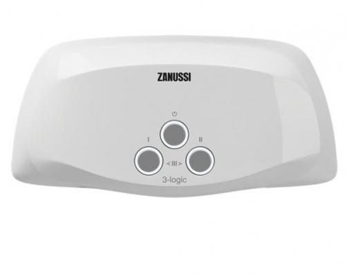 Водонагреватель проточный Zanussi 3-logic 3,5 T кран 3.5 кВт