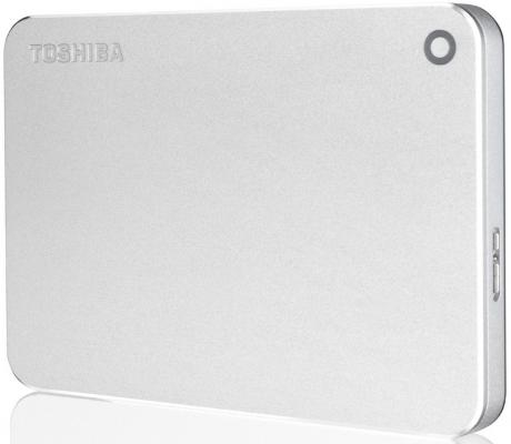 "Внешний жесткий диск 2.5"" USB 3.0 1Tb Toshiba Canvio Premium серебристый HDTW110EC3AA"