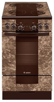 Электрическая плита Gefest 5560-03 0001 коричневый газовая плита gefest пгэ 6102 02 0001 электрическая духовка коричневый