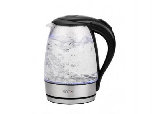 Чайник Sinbo SK 7318 2000 Вт чёрный 1.7 л пластик/стекло