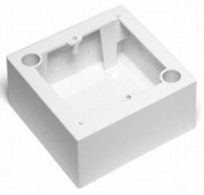 Коробка Lanmaster LAN-WB45x45-WH настенная под рамку французского стандарт 45х45мм белый