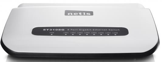 Коммутатор Netis ST3108G 8-портовый 10/100/1000 Мбит/с