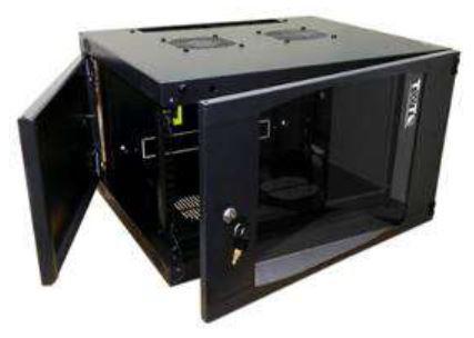 Шкаф настенный 9U Lanmaster TWT-CBWNG-9U-6X4-BK 550x450mm черный 60кг